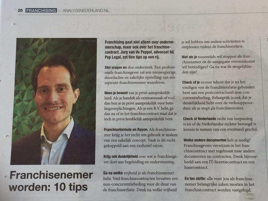 'Franchisenemer worden: 10 tips' in EMP-franchisekatern